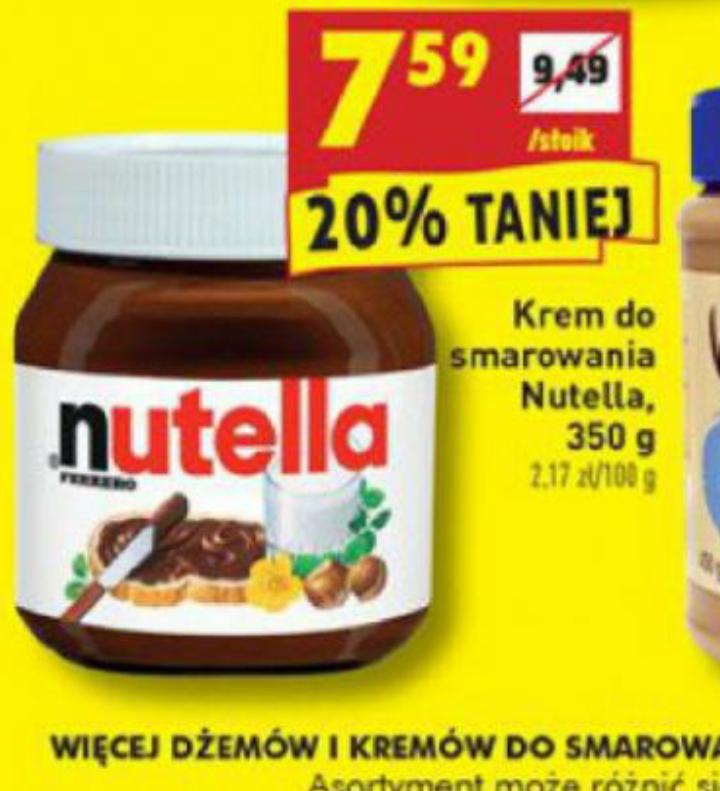 Nutella 350g za 7.59zł Biedronka