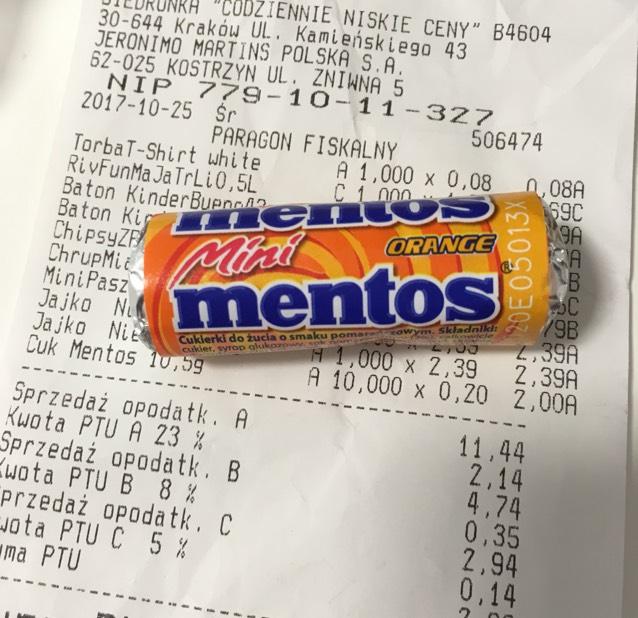Mentos Mini w Biedronce 0,20 zł