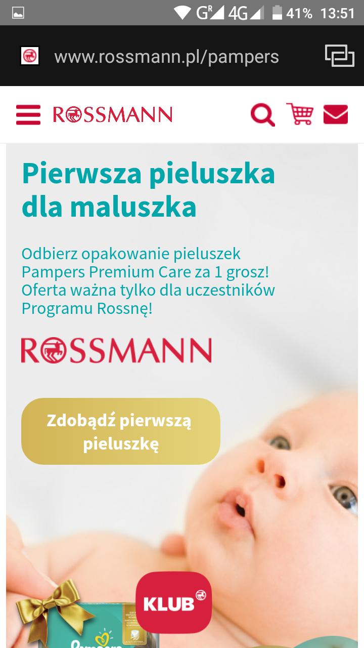 Rossman - darmowa paczka Pampersow dla ciężarnych