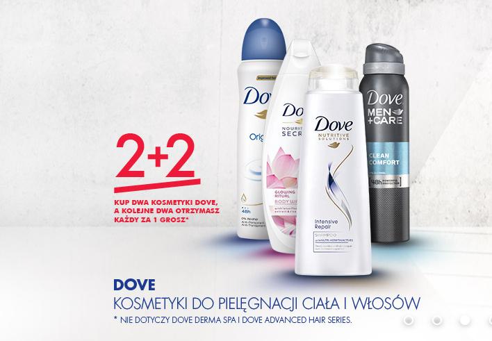 2+2 gratis na kosmetyki marki Dove @ Super-Pharm