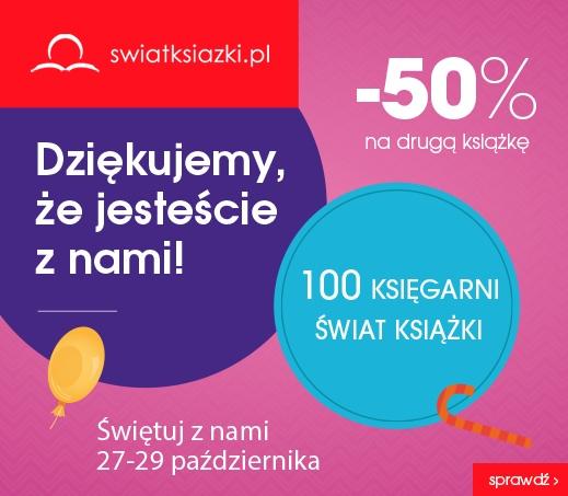 Rabat -50% na drugą książkę @ Świat Książki