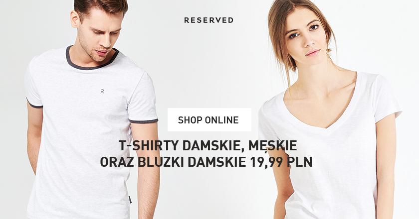 T-shirty po 19,99zł @ Reserved