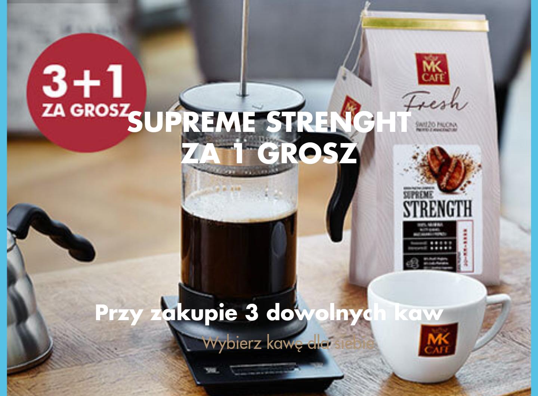 Przy zakupie 3 dowolnych kaw Supreme Strenght 250g za 1 grosz + 15% rabatu na wszystko przez weekend + darmowa dostawa