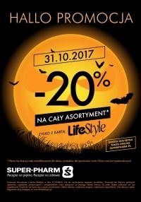31.10 - 20% rabatu na cały asortyment (także stacjonarnie) @ Super-Pharm