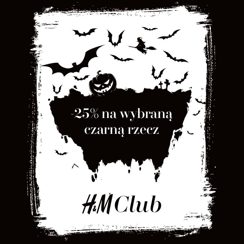 HALLOWEEN Z H&M CLUB -25 % na wszystko co czarne