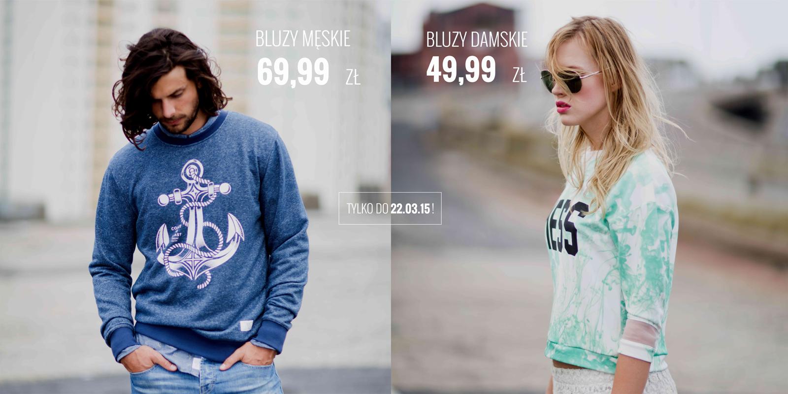 Bluzy damskie za 49,99zł, męskie za 69,99zł @ House