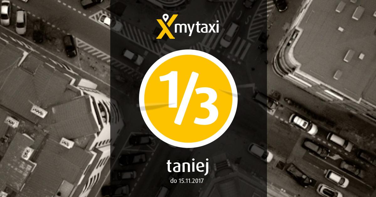 Taksówki 1/3 taniej @ mytaxi