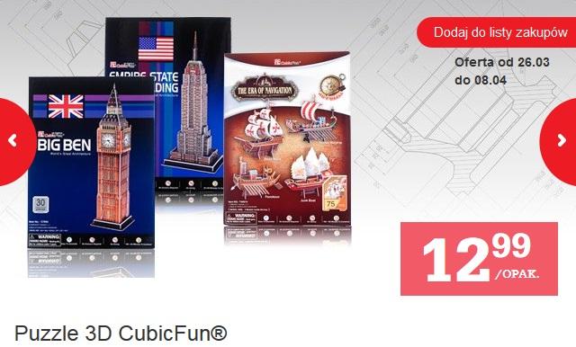 Puzzle 3D CubicFun za 12,99 zł @ biedronka