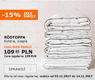 -15% na wszystkie kołdry @ Ikea Family