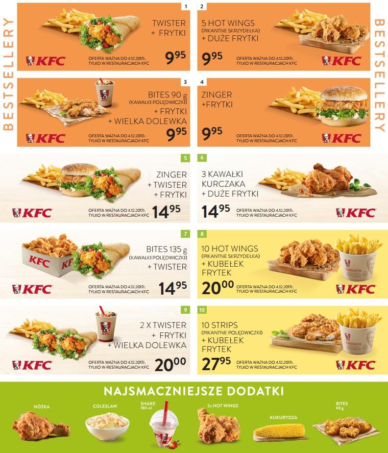 10 nowych kuponów do KFC