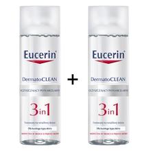DOZ Końcówki serii - Eucerin Dermatoclean, płyn micelarny, 3w1, 200 ml x 2 opakowania