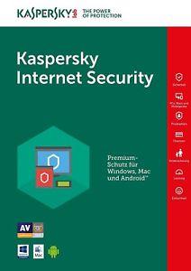 Kaspersky Internet Security 2018 1 Year full version