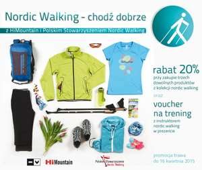20% rabatu na kolekcję nordic walking + voucher na trening z instruktorem GRATIS @ HiMountain