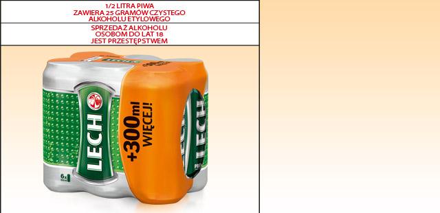 6x550ml Piwa LECH za 13,99zł @ Biedronka