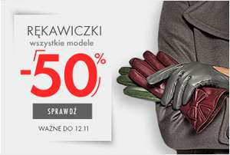Rękawiczki przecenione o połowę (ceny od 49zł) plus kosmetyczka za 1zł *@ Wittchen