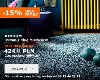 -15% na wszystkie dywany @ Ikea Family