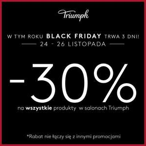 [Black Friday] 30% rabatu na bieliznę @ Triumph