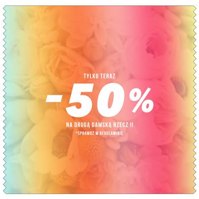 Rabat 50% na drugą rzecz z kolekcji damskiej @ Cropp