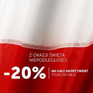 -20% na cały asortyment Red is bad!