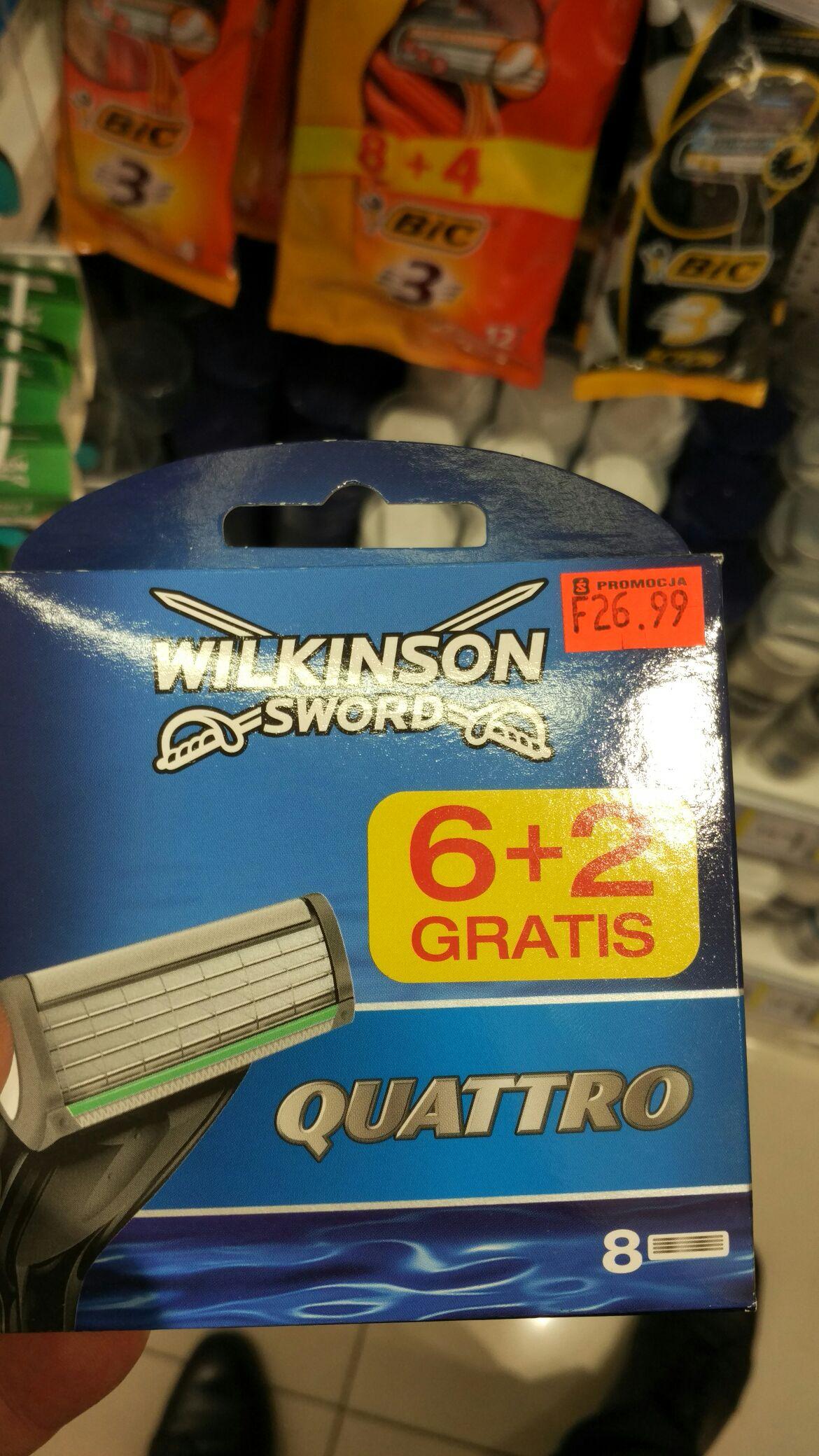 Nożyki do Wilkinson Sword Quattro 8 sztuk