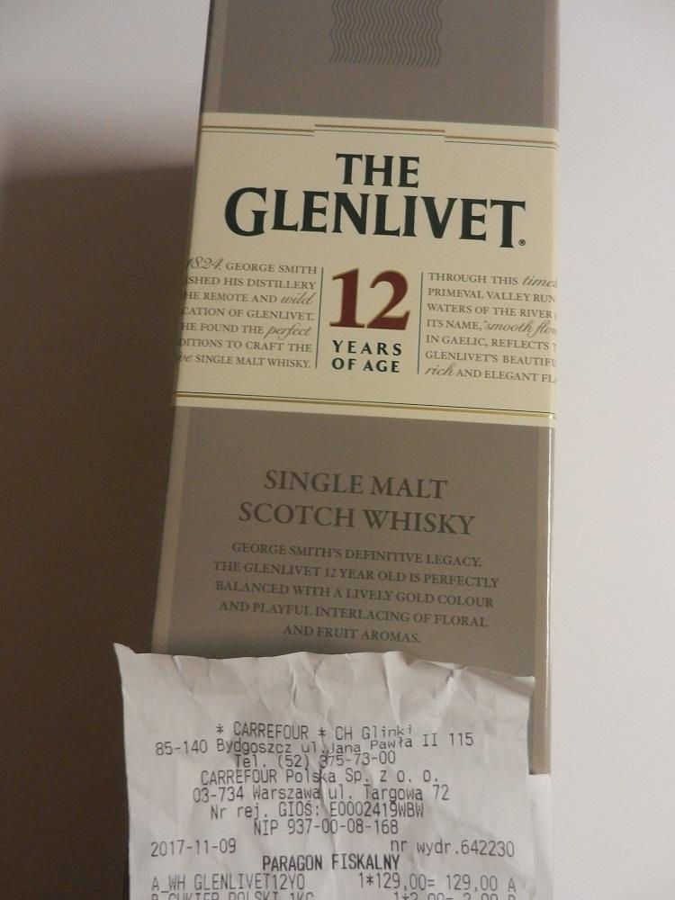 The Glenlivet 12 yo 0,7l Carrefour