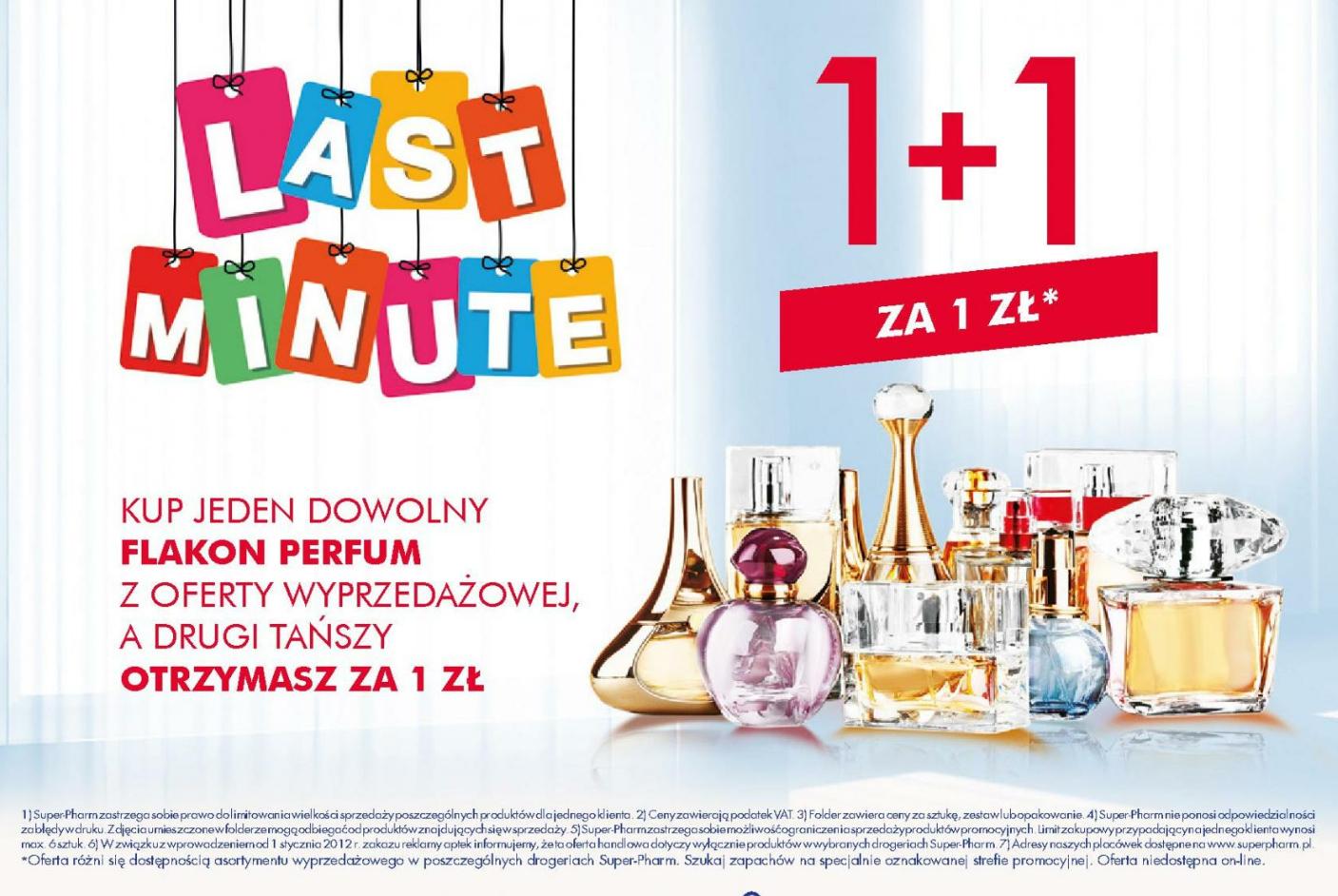 1+1 perfumy z wyprzedaży Super-Pharm
