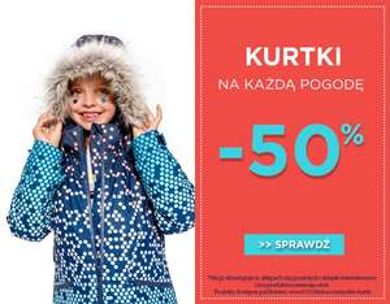 50% rabatu na kurtki + darmowa dostawa @ 5.10.15