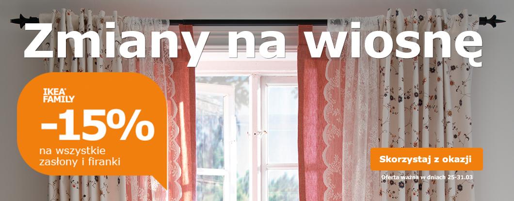Firany i zasłony taniej o 15% (dla Klubowiczów) @ Ikea