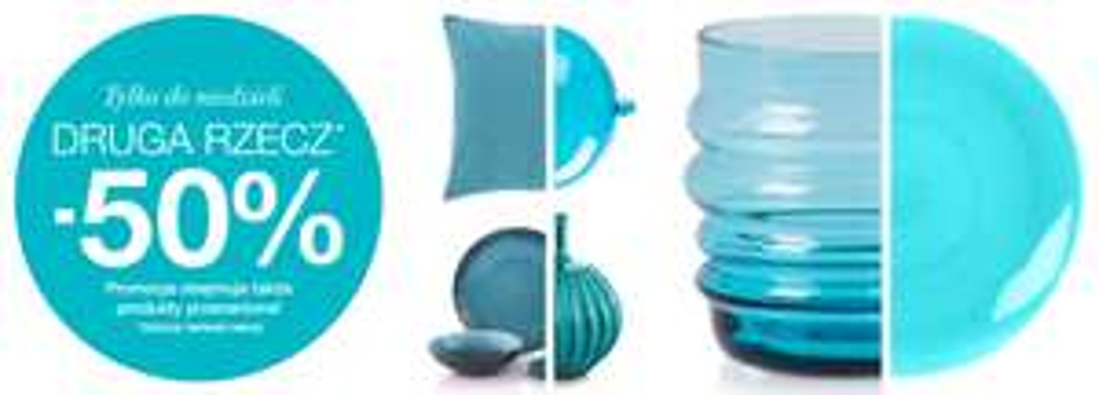 Drugi produkt z rabatem 50% (promocja obejmuje produkty już przecenione) @ Home@You