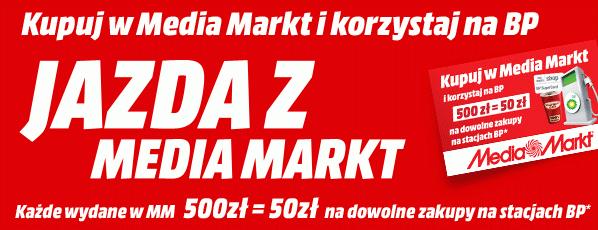 50zł do wydania na stacjach BP za każde wydane 500zł @Mediamarkt