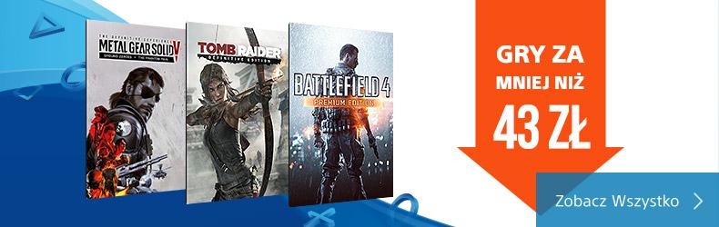 Playstation Store - Gry poniżej  43zł PS4