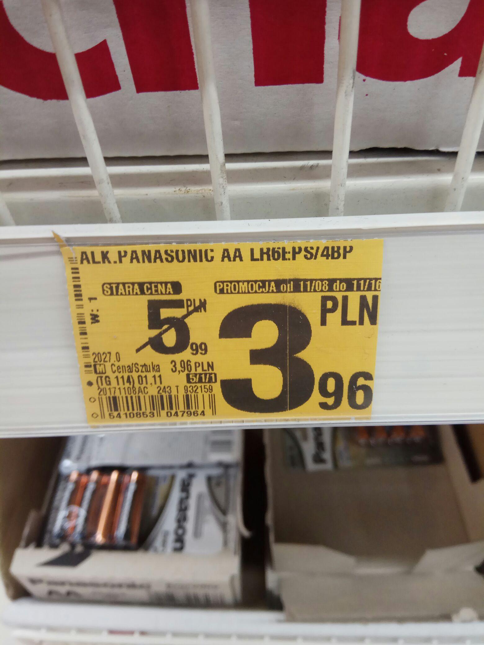 Baterie AA  AAA Panasonic Everyday @ Auchan (Białystok)