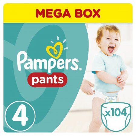 Pampers Pieluchomajtki Active Baby Pants Maxi - Mega Box (104 szt.)
