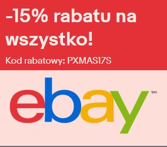 15% rabatu na wszystko - eBay pl / de / fr / nl / be