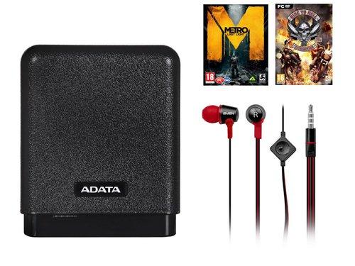 Powerbank ADATA 10000 mAh + 2 gry + słuchawki SVEN