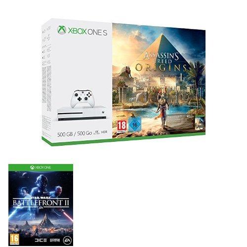 Xbox One S 500 GB Assassin´s Creed Origins Bundle + Star Wars Battelfront II