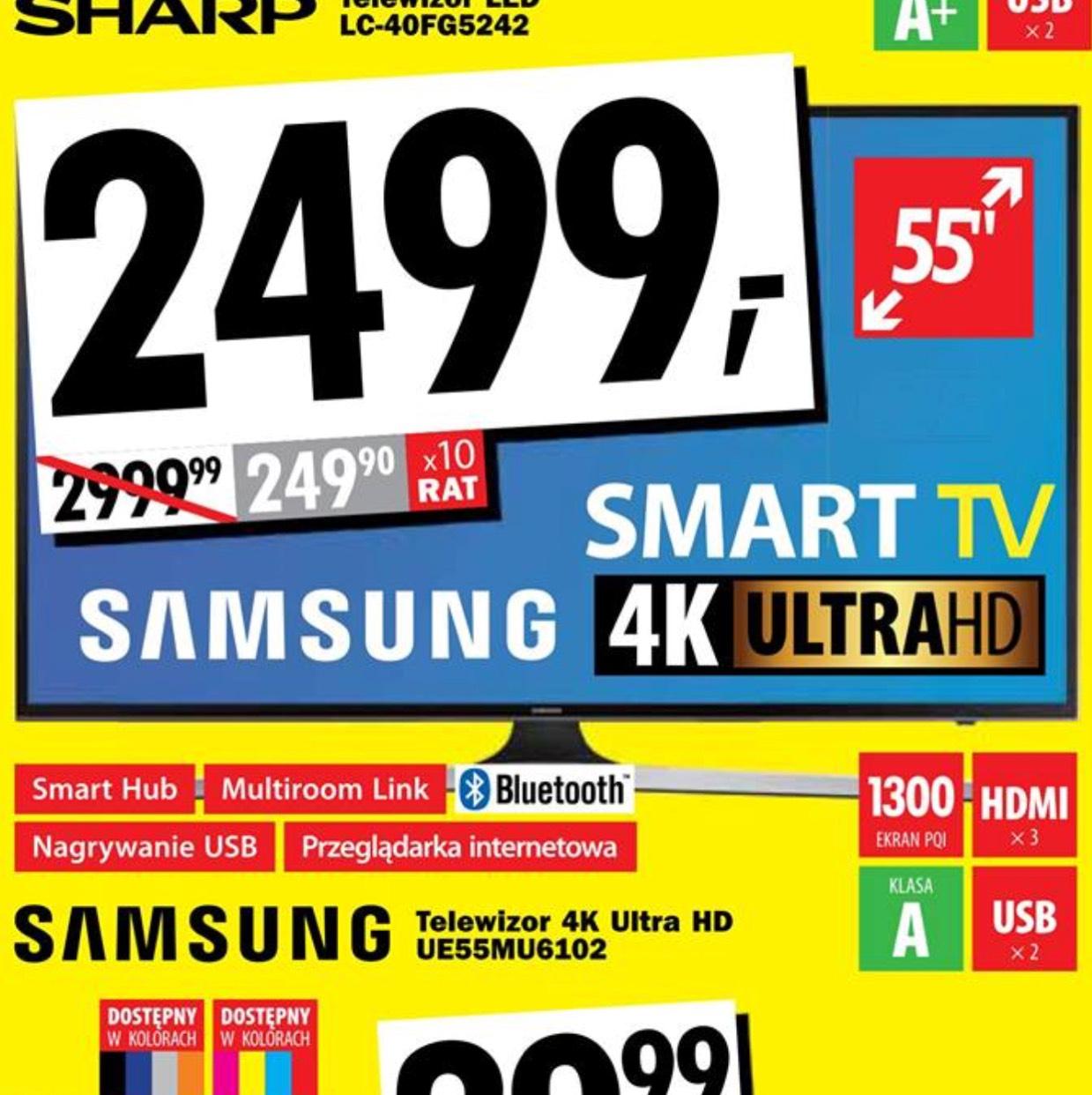 Samsung tv UE55MU6102 Media Expert Szczecin(lokalnie)