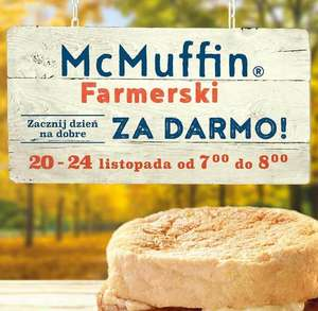 McMuffin w McDonalds za darmo