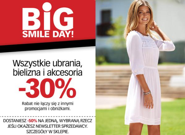 30% rabatu na odzież, bieliznę i akcesoria (DZIŚ) @ Cubus