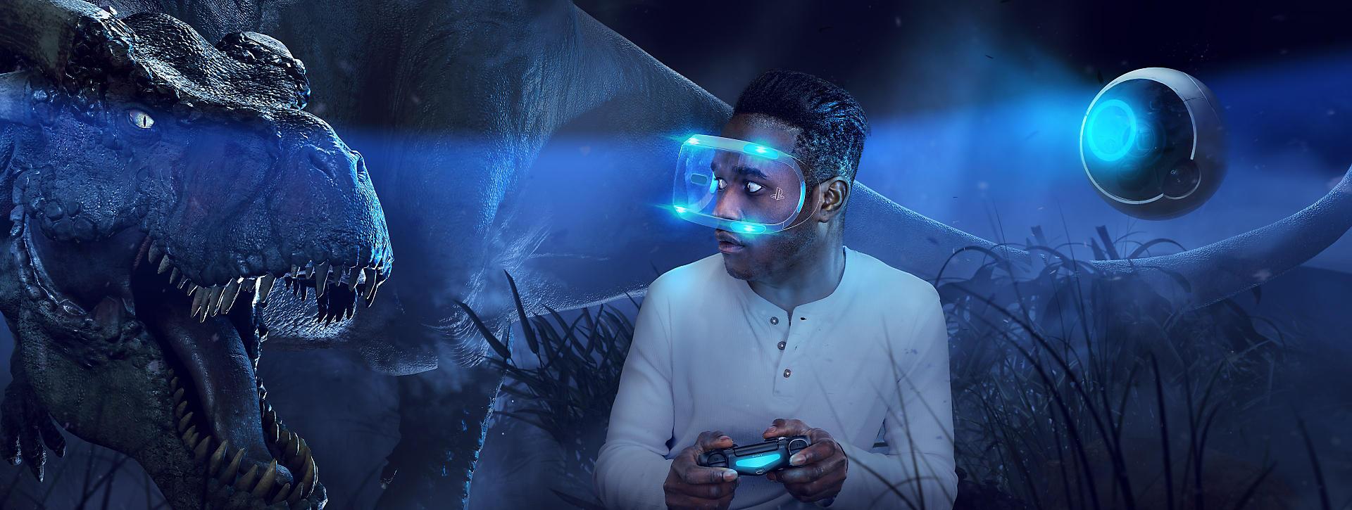 Gogle SONY PlayStation VR + Kamera + Gra Gran Turismo Sport + Gra VR Worlds @ Media Expert / Euro