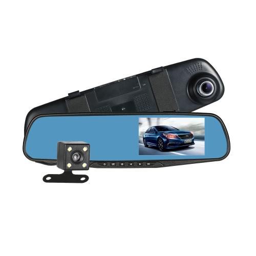 Zestaw - kamerka cofania w lusterku plus rejestrator jazdy