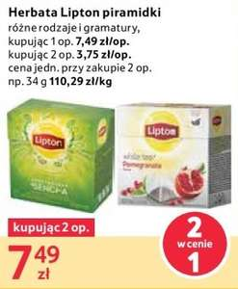 Herbata Lipton piramidki 2 w cenie 1 @Tesco