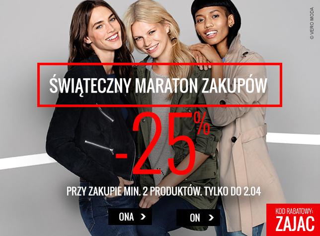Kod rabatowy -25% przy zakupie minimum 2 sztuk (odzież, obuwie - damskie i męskie) @Answear
