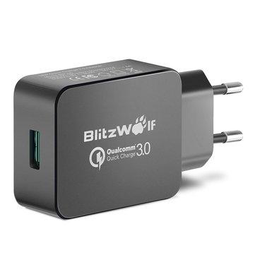 Qualcomm Certified BlitzWolf® BW-S5 QC3.0 18W TYLKO przez aplikację mobilną + KABEL BlitzWolf® BW-MC1 za 11,06zł