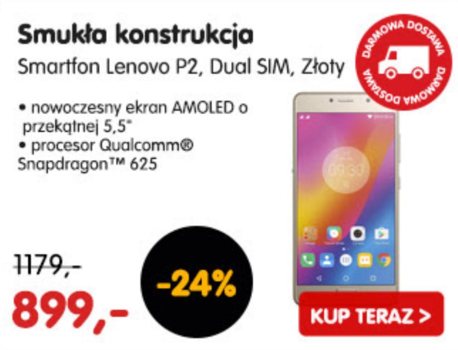 Lenovo P2 4/32 Gold z PL @mall.pl.