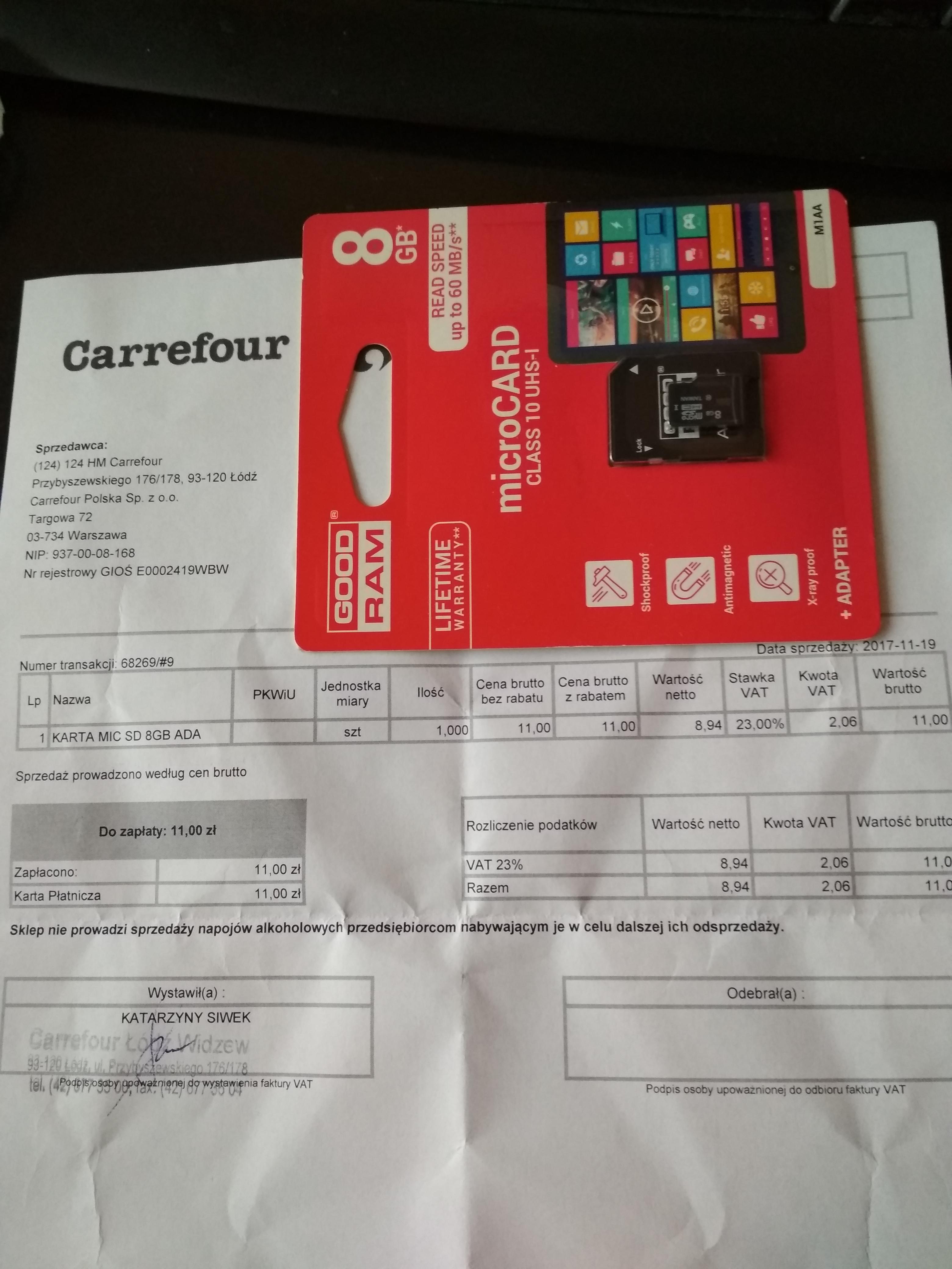 Karta microsd Goodram 8GB UHS-I