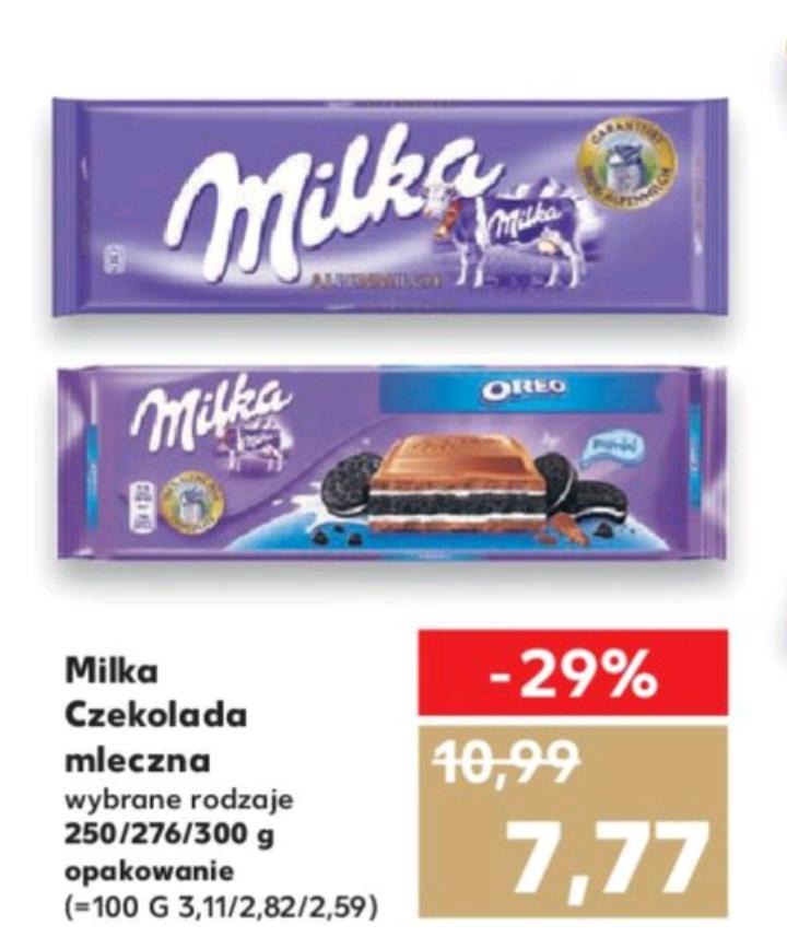 Czekolada MILKA za 7.77 zł - Kaufland