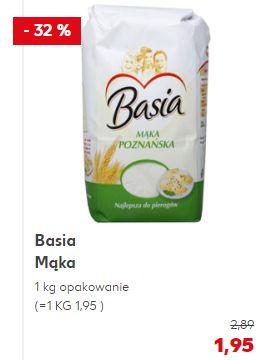 Mąka Basia kg różne rodzaje w KaufLandzie