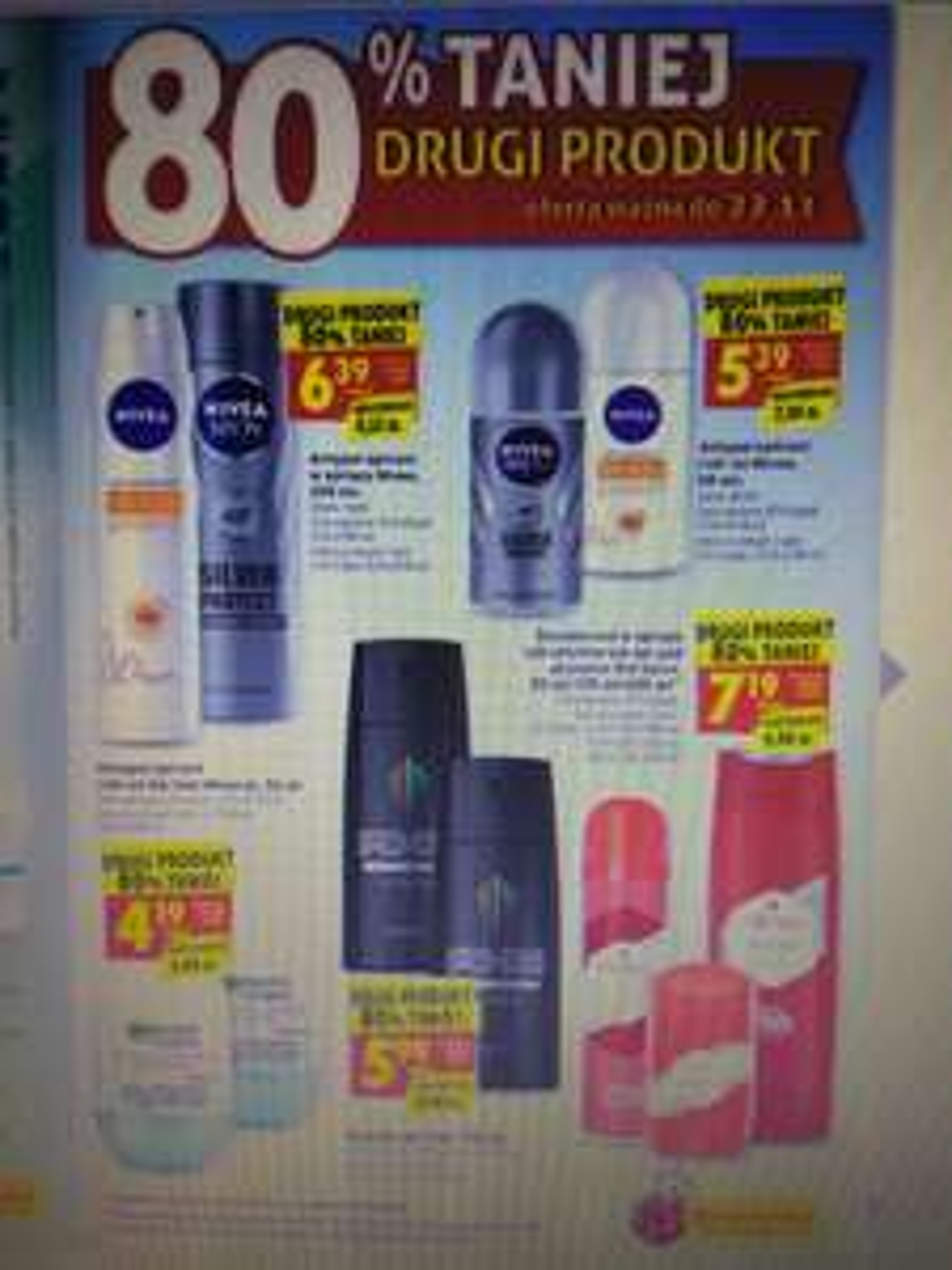 Wybrane dezodoranty i antyperspiranty w supercenach 80% taniej drugi produkt @biedronka