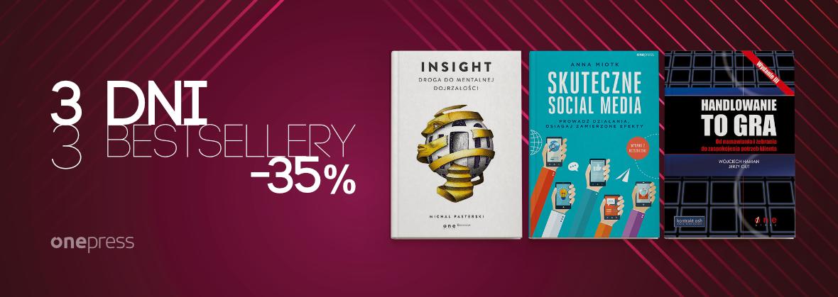 3 dni 3 bestsellery -35% @ Onepress